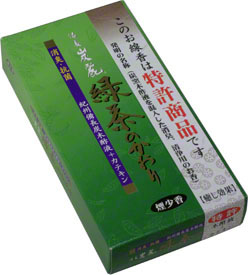 Baikundo Green Tea Less Smoke Incense